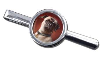 The Pug Dog by Carl Reichert Tie Clip