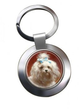 West Highland Terrier by Carl Reichert Metal Key Ring