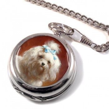 West Highland Terrier by Carl Reichert Pocket Watch