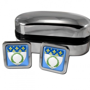 Reims France Square Cufflinks