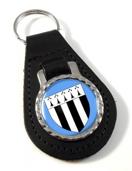 Rennes (France) Leather Key Fob