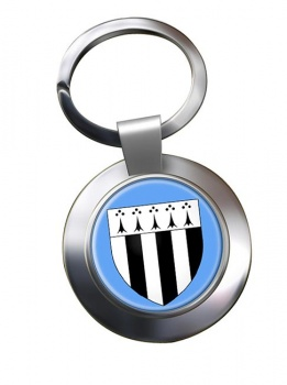Rennes (France) Metal Key Ring