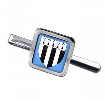 Rennes (France) Square Tie Clip