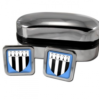 Rennes France Square Cufflinks