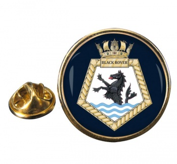 RFA Black Rover Round Pin Badge