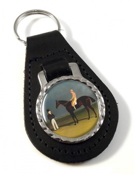Racehorse Birmingham by Herring Leather Key Fob