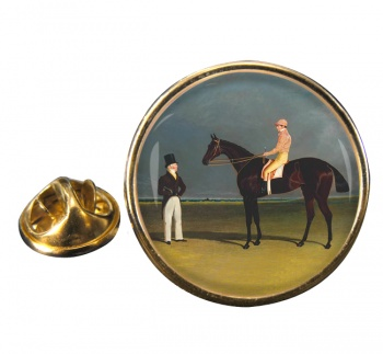 Racehorse Birmingham by Herring Round Pin Badge