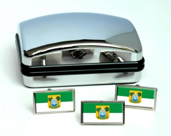 Rio Grande do Norte (Brasil) Flag Cufflink and Tie Pin Set