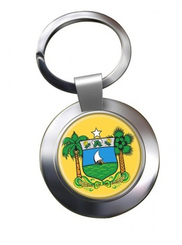 Rio Grande do Norte (Brasil) Metal Key Ring