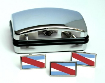 Argentine Entre Rios Flag Cufflink and Tie Pin Set