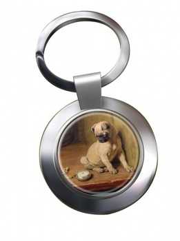 Pug (Tick Tack) by Briton Riviere Metal Key Ring