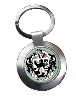 Roberts Coat of Arms Chrome Key Ring