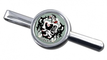 Roberts Coat of Arms Round Tie Clip