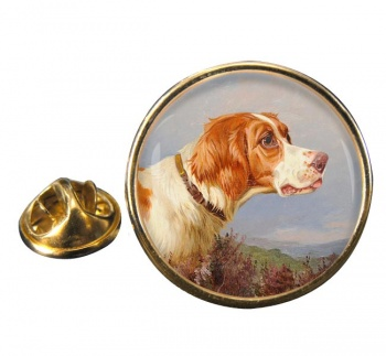 Head Study of a Pointer by Colin Graeme Roe Round Pin Badge