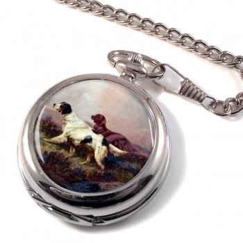 Setters at Work by Colin Graeme Roe Pocket Watch
