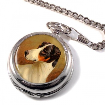 Head Study of a Fox Terrier by Colin Graeme Roe Pocket Watch