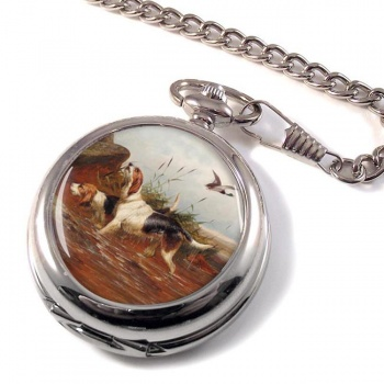 Water Spaniels by Colin Graeme Roe Pocket Watch