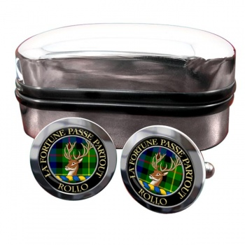 Rollo Scottish Clan Round Cufflinks