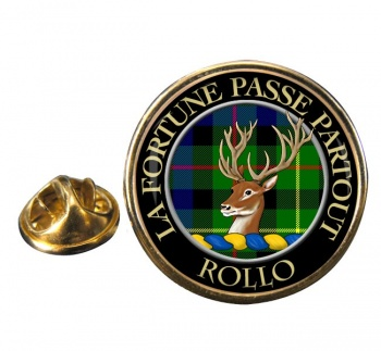 Rollo Scottish Clan Round Pin Badge