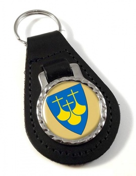 Møre og Romsdal (Norway) Leather Key Fob