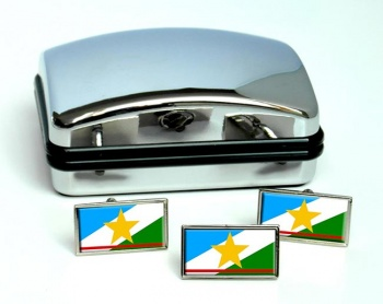 Roraima (Brasil) Flag Cufflink and Tie Pin Set