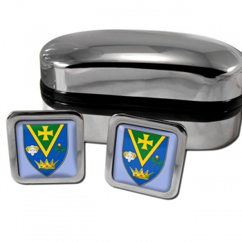 County Roscommon Ireland Square Cufflinks