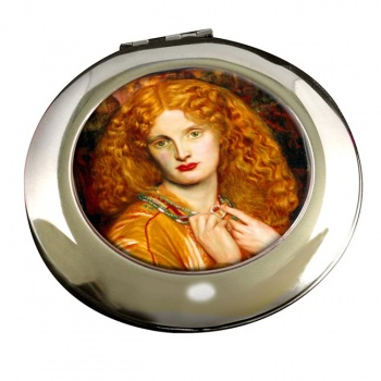 Helen of Troy by Rossetti Round Mirror