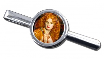 Helen of Troy by Rossetti Round Tie Clip