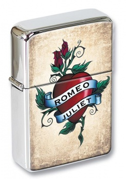 Personalised Names Rose Tattoo Flip Top Lighter