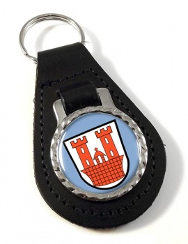 Rothenburg ob der Tauber (Germany) Leather Key Fob