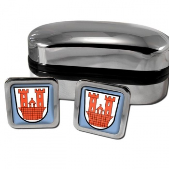 Rothenburg ob der Tauber Germany Square Cufflinks