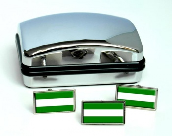 Rotterdam (Netherlands) Flag Cufflink and Tie Pin Set