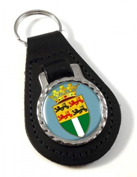 Rotterdam (Netherlands) Leather Key Fob