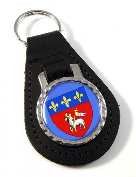 Rouen (France) Leather Key Fob