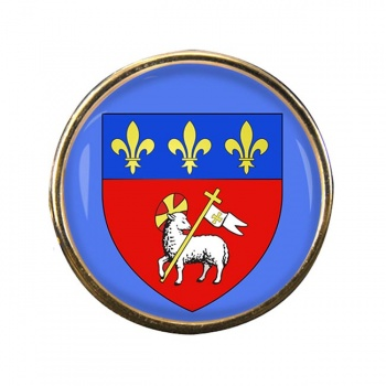 Rouen (France) Round Pin Badge