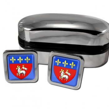 Rouen France Square Cufflinks