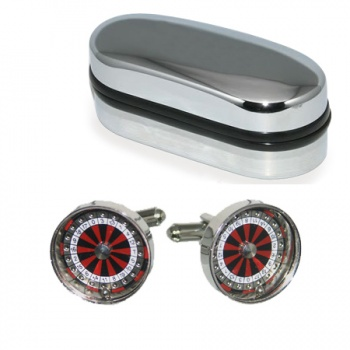 3D Working Roulette Cufflinks