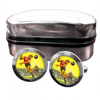Roy of the Rovers Round Cufflinks