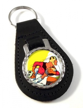 Rugby Leather Key Fob