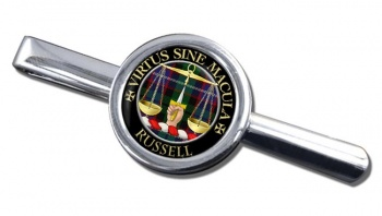 Russell Scottish Clan Round Tie Clip