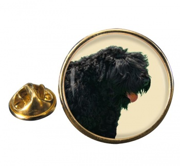 Black Russian Terrier Round Pin Badge