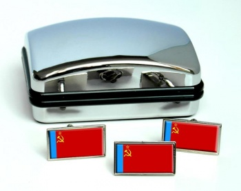 Russian Soviet Flag Cufflink and Tie Pin Set