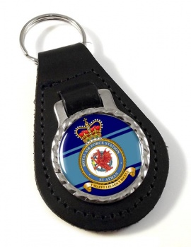 St Athan Leather Key Fob