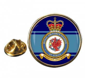St Athan Round Pin Badge