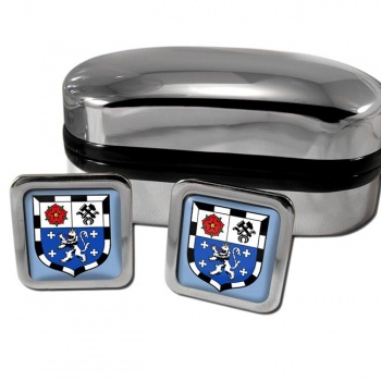 Saarbrucken Germany Square Cufflinks