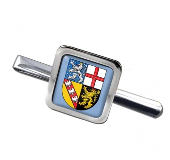Saarland (Germany) Square Tie Clip