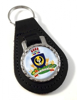 South Australia Coat of Arms  Leather Key Fob
