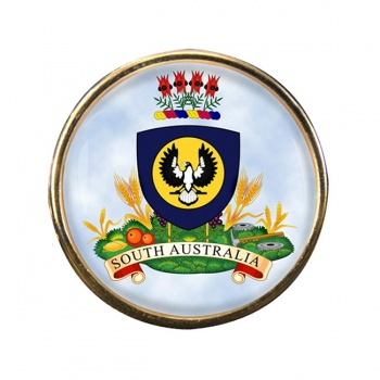 South Australia Coat of Arms Round Pin Badge