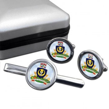 South Australia Coat of Arms  Round Cufflink and Tie Clip Set