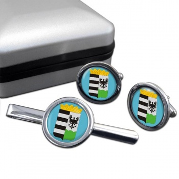Salgotarjan Round Cufflink and Tie Clip Set